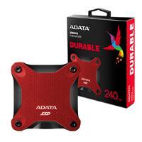 UNIDAD DE ESTADO SOLIDO SSD EXTERNO ADATA SD600Q 240GB USB 3.1  ROJO WINDOWS/MAC/LINUX/ANDROID