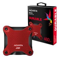 UNIDAD DE ESTADO SOLIDO SSD EXTERNO ADATA SD600Q 480GB USB 3.1  ROJO WINDOWS/MAC/LINUX/ANDROID