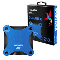 UNIDAD DE ESTADO SOLIDO SSD EXTERNO ADATA SD600Q 240GB USB 3.1  AZUL WINDOWS/MAC/LINUX/ANDROID