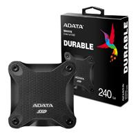 UNIDAD DE ESTADO SOLIDO SSD EXTERNO ADATA SD600Q 240GB USB 3.1  NEGRO WINDOWS/MAC/LINUX/ANDROID