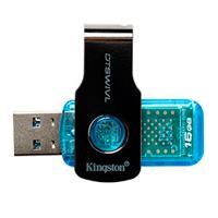 MEMORIA KINGSTON 16GB USB 3.1 ALTA VELOCIDAD / DATATRAVELER SWIVL AZUL
