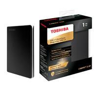 DISCO DURO EXTERNOERNO 1TB TOSHIBA CANVIO SLIM 2.5//USB 3.0//METALICO NEGRO//VELOCIDAD DE TRANSFERENCIA 5GB/S//PASSWORD PROTECTION/SOFTWARE DE RESPALD