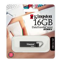MEMORIA KINGSTON 16GB USB 3.1 DATATRAVELER MINI DTMRX GRIS