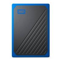 UNIDAD DE ESTADO SOLIDO SSD EXTERNO WD PORTATIL 500GB MY PASSPORT GO NEGRO COBALTO/USB 3.0 COPIA LOCAL/ENCRIPTACION/WIN-MAC