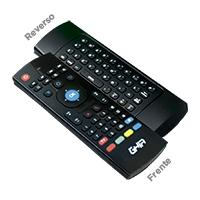 MINI TECLADO INALAMBRICO COMPACTO GHIA CON AIR MOUSE Y CONTROL REMOTO IR PARA SMART TV Y TV BOX