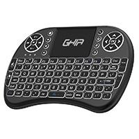 MINI TECLADO GHIA CON TOUCH PAD PARA SMART TV, TV SMART BOX Y PC