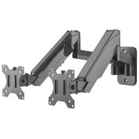 SOPORTE P/2 MONITORES MANHATTAN 17 A 32 PARED, PISTON