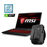 PORTATIL GAMER MSI CORE I5 9300H 2.4 - 4.1GHZ/8GB DDR4/1TB HDD128 SSD/17.3 FHD-120HZ/NVIDIA GTX1650 4GB/WIN 10 HOME INCLUYE BACK-PACK