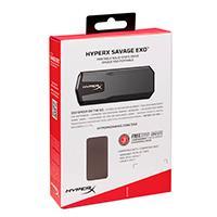 UNIDAD DE ESTADO SOLIDO PORTATIL SSD KINGSTON HYPERX SAVAGE EXO 480GB UNIDAD EXTERNA LECT HASTA.960/ESCR HASTA.480MBS GAMER/ALTO RENDIMIENTO