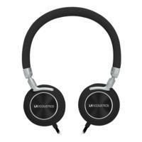AUDFONOS ON EAR LFACUSTIC / ACTECK ALMBRICOS CON MICROFONO NEGRO FEEL LA-925884