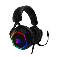 AUDIFONOS GAMING HESIX BALAM RUSH SPECTRUM/ACTECK  ON-EAR/USB/7.1 CANALES/RGB/MICROFONO/COLOR NEGRO/BR-929776