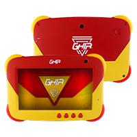 TABLET GHIA 7 KIDS/A50 QUADCORE/1GB RAM/16GB /2CAM/WIFI/BLUETOOTH/2500MAH/ANDROID 9 /ROJA