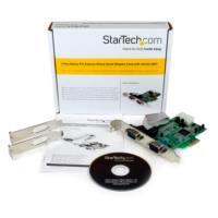 TARJETA ADAPTADORA PCI EXPRESS PCIE DE 2 PUERTOS SERIAL RS232 DB9 UART 16550 - STARTECH.COM MOD. PEX2S553