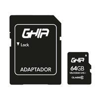 MEMORIA GHIA 64GB MICRO SD CLASE 10 CON ADAPTADOR