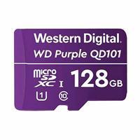 MEMORIA WD 128GB MICRO SDXC PURPLE SC QD101 VIDEOVIGILANCIA 24/7 CLASE 10 U1 LECT 50MB/S ESC 40MB/S