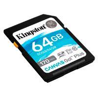 MEMORIA KINGSTON SDXC CANVAS GO PLUS 64GB UHS-I U3 V30 CLASE 10