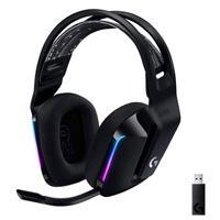 AUDIFONOS GAMING TIPO DIADEMA LOGITECH G733 LIGHTSPEED BLACK INALAMBRICO USB 1MS RECARGABLE 29HRS DE USO 20 METROS 7.1 CANALES MICROFONO BLUE VOICE RGB LIGHTSYNC