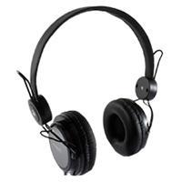 DIADEMA C/MIC ACTECK AF-540 CRISTAL SOUND 3.5MM CONTROL DE VOL NEGRA
