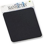 MOUSE PAD 6 MM MANHATTAN NEGRO EN BOLSA MANHATTAN 423533