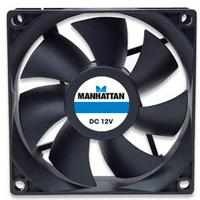 VENTILADOR MANHATTAN 80X80X25, 4 PIN SLEEVE BEARING MANHATTAN 700320