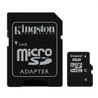 MEMORIA KINGSTON MICRO SDHC 8GB CLASE 4 C/ADAPTADOR