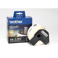 ETIQUETA PRE CORTADA BROTHER DK1201 29 MM X 90 MM 400 ETIQUETAS BROTHER DK1201