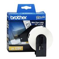 ETIQUETA PRE CORTADA BROTHER DK1204 17MM X 54MM 400 ETIQUETAS COMPATIBLE CON EQUIPOS QL BROTHER DK12