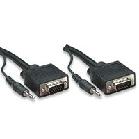 CABLE VGA MANHATTAN PARA MONITOR O PROYECTOR 1.8 MTS NEGRO AUDIO 3.5 MM