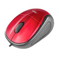 MOUSE OPTICO ALAMBRICO EASY LINE BY PERFECT CHOICE ROJO USB COMPATIBLE CON WINDOWS XP,VISTA,7  MAC OS
