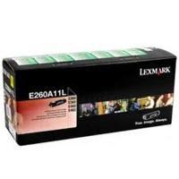 TONER LASER LEXMARK / COLOR NEGRO / RENDIMIENTO ESTANDAR / E260A11L / HASTA 3,500 PAGINAS / % DE COBERTURA / P/MODELOS: E260DN, E460DN, E360DN.