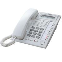 TELEFONO PANASONIC KX-T7730 HIBRIDO CON PANTALLA DE 1 LINEA, 12 TECLAS DSS Y ALTAVOZ (BLANCO) PANASO