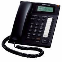 TELEFONO PANASONIC KX-T7716 UNILINEA CON IDENTIFICADOR DE LLAMADAS Y BOTONES PROGRAMABLES (NEGRO) PA