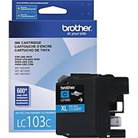 CARTUCHO BROTHER CYAN LC103C PARA RENDIMIENTO DE 600 IMPRESIONES BROTHER LC103C