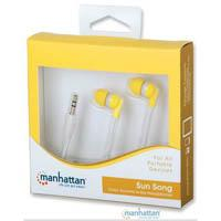 AUDIFONOS INTRAUDITIVOS MANHATTAN, 3.5MM / AMARILLO