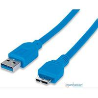CABLE USB 3.0 MANHTATTAN A MACHO  /  MICRO B MACHO 1 MTS AZUL MANHATTAN 393898