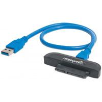 CABLE CONVERTIDOR MANHATTAN USB 3.0 A SATA DISCO DURO 2.5