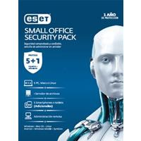 ESET SMALL OFFICE SECURITY PACK, 5 PCS + 5 SMARTPHONE O TABLET + I SERVER + CONSOLA, 1 AÃ'O DE VIGENC