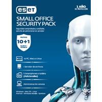 ESET SMALL OFFICE SECURITY PACK, 10 PCS + 5 SMARTPHONE O TABLET + I SERVER + CONSOLA, 1 AÑO DE VIG E