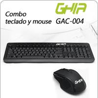 KIT TECLADO MULTIMEDIA Y MOUSE USB GHIA COLOR NEGRO ALAMBRICO