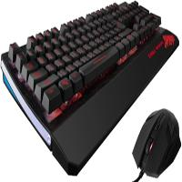 TECLADO / MOUSE ALAMBRICO EAGLE WARRIOR TEC. G75  /  LUZ 3 COLORES MOU G15 DPI AJUSTABLE / PC / GAME