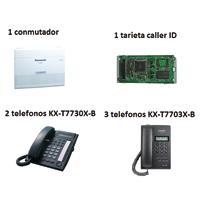 PAQUETE PANASONIC CONMUTADOR 1 KX-TES8241 KX-TE82494 2 KX-T7730X-B 3 T7703X-B TELEFONOS NEGROS PANAS