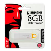 MEMORIA KINGSTON 8GB USB 3.0 DATATRAVELER I GEN 4 AMARILLA