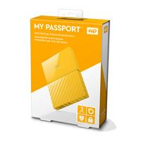 DISCO DURO EXTERNOERNO PORTATIL 3TB WD MY PASSPORT AMARILLO 2.5/USB3.0/COPIA LOCAL/ENCRIPTACION/WIN