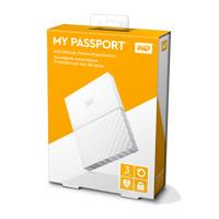 DISCO DURO EXTERNOERNO PORTATIL 3TB WD MY PASSPORT BLANCO 2.5/USB3.0/COPIA LOCAL/ENCRIPTACION/WIN