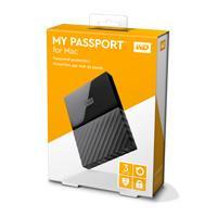 DISCO DURO EXTERNOERNO PORTATIL 3TB WD MY PASSPORT FOR MAC NEGRO 2.5/USB3.0/COPIA LOCAL/ENCRIPTACION/MAC