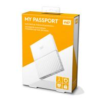 DISCO DURO EXTERNOERNO PORTATIL 1TB WD MY PASSPORT BLANCO 2.5/USB3.0/COPIA LOCAL/ENCRIPTACION/WIN