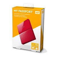 DISCO DURO EXTERNOERNO PORTATIL 1TB WD MY PASSPORT ROJO 2.5/USB3.0/COPIA LOCAL/ENCRIPTACION/WIN
