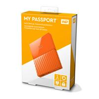 DISCO DURO EXTERNOERNO PORTATIL 1TB WD MY PASSPORT NARANJA 2.5/USB3.0/COPIA LOCAL/ENCRIPTACION/WIN