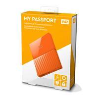 DISCO DURO EXTERNOERNO PORTATIL 4TB WD MY PASSPORT NARANJA 2.5/USB3.0/COPIA LOCAL/ENCRIPTACION/WIN