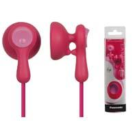 AUDIFONOS TIPO INSERCION (IN-EAR)  PANASONIC RP-HV41PP COLOR ROSA CONECTOR 3.5MM